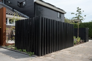 Design schutting tuinaanleg Piershil Van der Waal Tuinen
