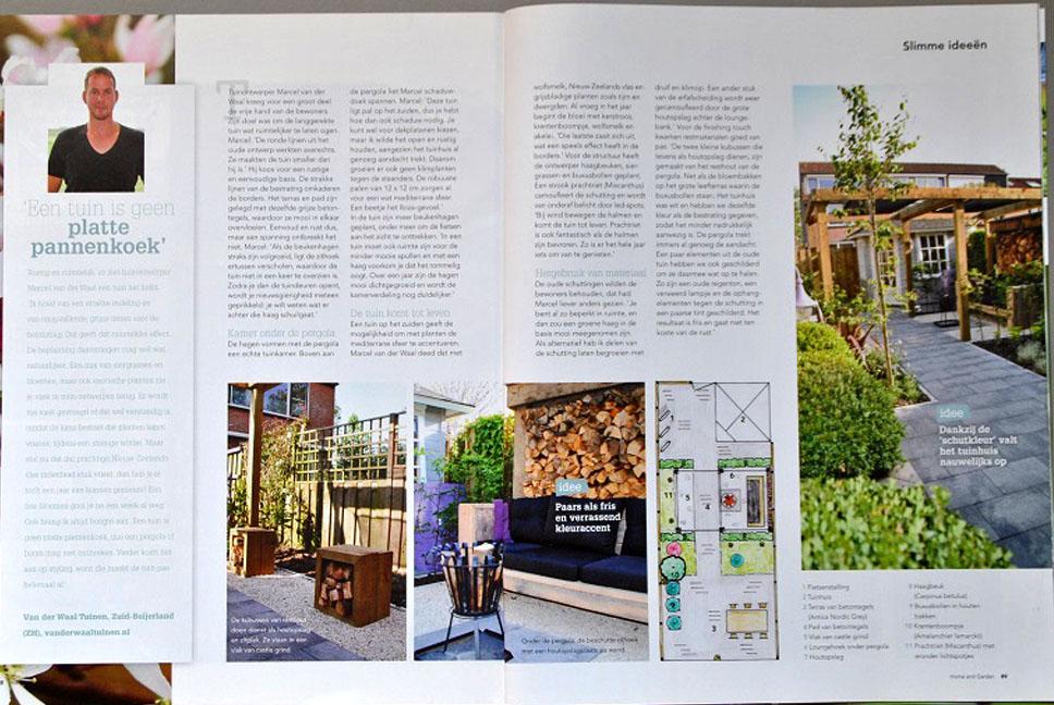 Tuinontwerp kleine achtertuin in Home and Garden - hoveniersbedrijf Van der Waal Tuinen