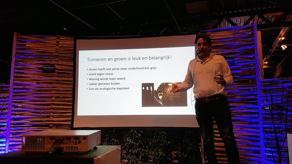 Duurzaam tuinieren - Lodewijk Hoekstra presenteert tijdens De Groene Sector Vakbeurs zijn visie